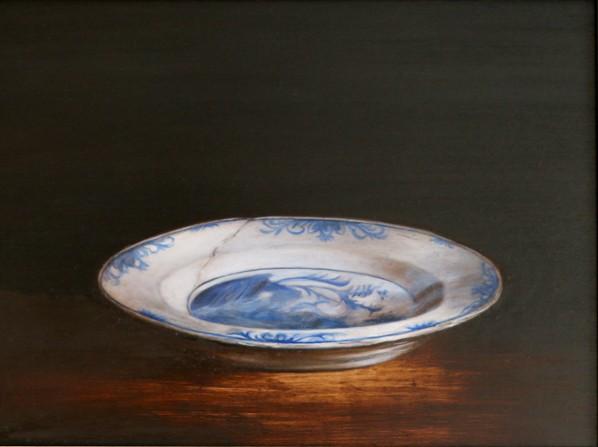 Delft plate still life