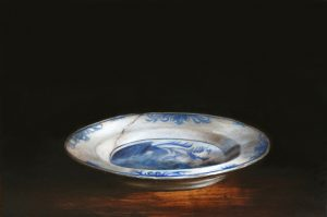 Small still life with Delft plate by Tanja Moderscheim