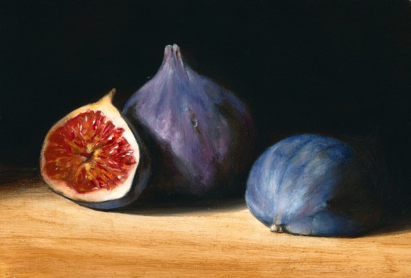 Figs. Oil on wood, 13x18cm