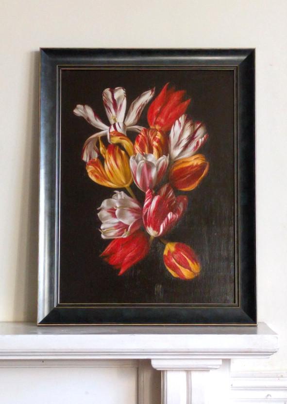 Historical tulip bouquet by Tanja Moderscheim