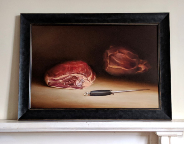 Charcuterie Hélibert, France. Oil on fine linen, 40x60cm