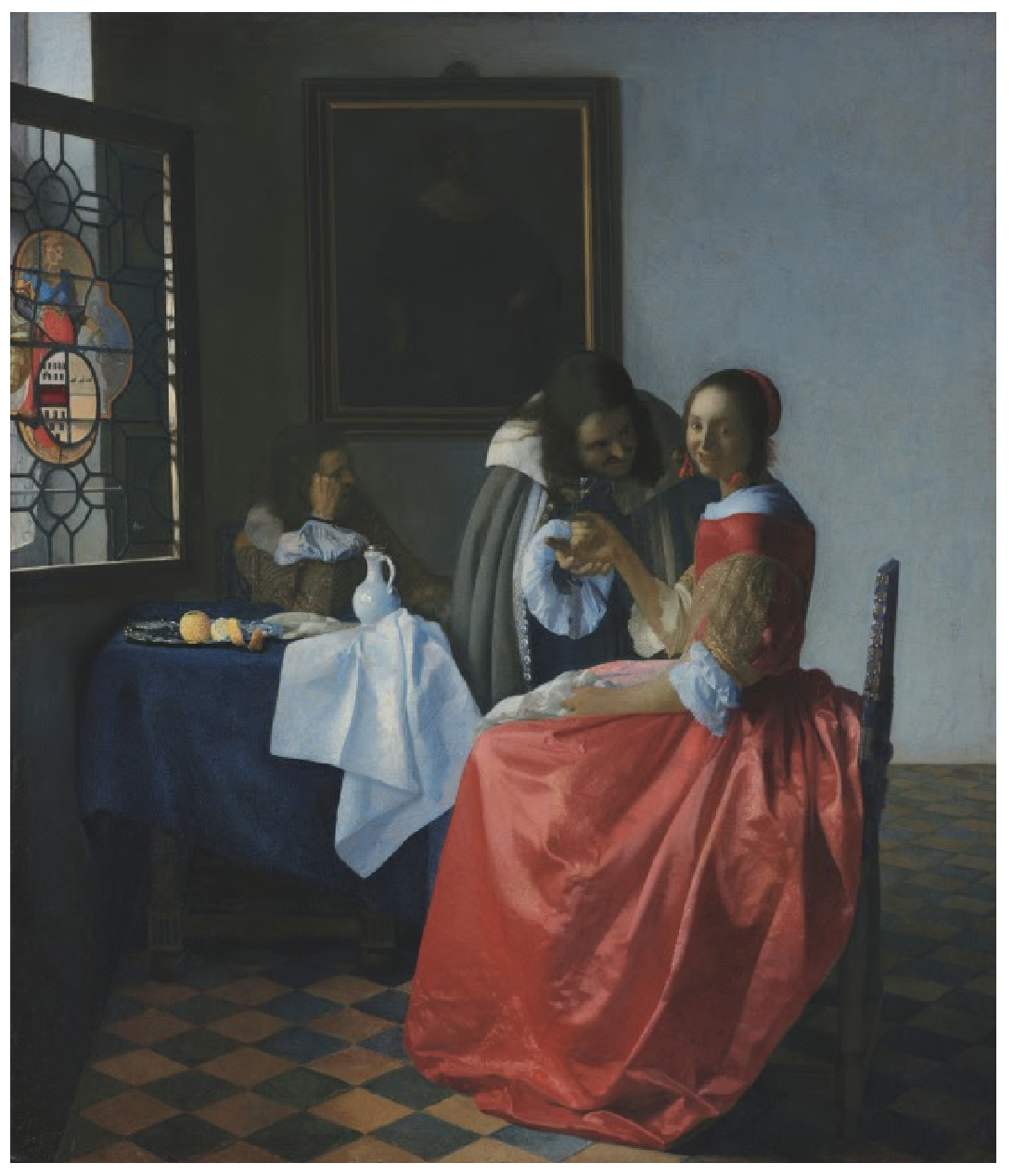 girl with a wine glass vermeer